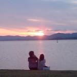島根県宍道湖の夕日