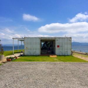 宍道湖の東、中海に浮かぶ大根島の絶景カフェ「DAIKON(ダイコン)」