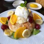 津山城東むかし町カフェせせらぎでフォカッチャで筋トレ!フルーツプレート